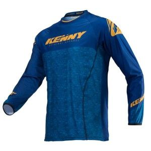 Kenny Crossshirt Titanium Gold/Heather Blue