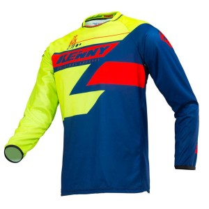 Kenny Crossshirt Track Lime/Navy/Red