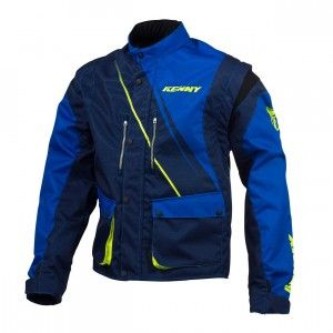 Kenny Track Jacket Blue/Neon Yellow-M