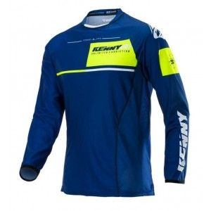 Kenny Crossshirt Titanium Blue/Neon Yellow