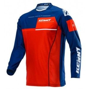 Kenny Crossshirt Titanium Navy/Red
