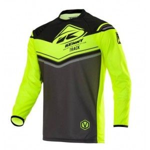 Kenny Kinder Crossshirt Track Victory Charcoal/Neon Yellow