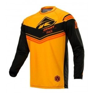 Kenny Track Victory Crossshirt Black/Orange