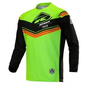 Kenny Track Victory Crossshirt Lime/Black