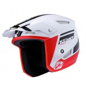 Kenny Trialhelm Trial Up White/Red