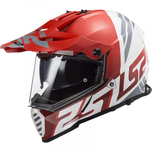 LS2 Crosshelm/Endurohelm Pioneer EVO Evolve Red/White