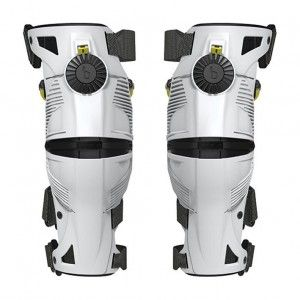 Mobius X8 Kinder Knie Brace White/Acid Yellow