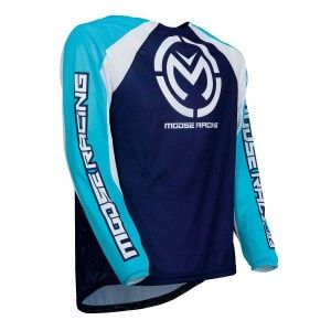 Moose Racing Crossshirt M1 Blue/White