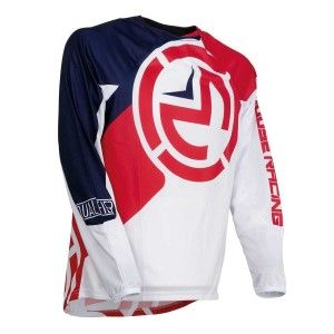 Moose Racing Kinder Crossshirt Qualifier Red/White/Blue
