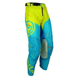 Moose Racing Crossbroek Sahara Blue/Hi-Viz