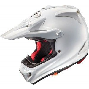 Arai Crosshelm MX-V Plain White (Glanzend)