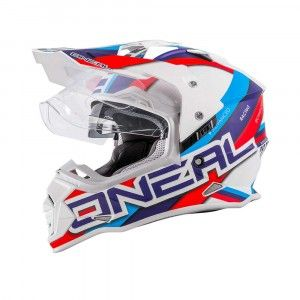 O'neal Crosshelm/Endurohelm Sierra II Circuit White/Blue