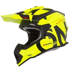 O'Neal Kinder Crosshelm 2 Series Slick Neon Yellow
