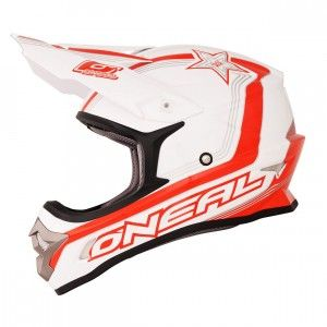 O'Neal Crosshelm 3 Series Star White/Red/White-M