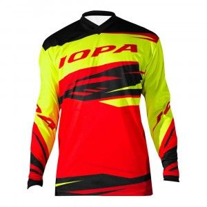 Jopa Kinder Crossshirt Orbit Neon Yellow/Red