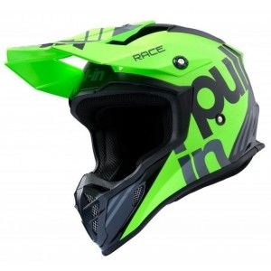 Pull-in Crosshelm Race Charcoal/Fluor Green