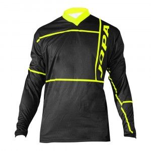 Jopa Kinder Crossshirt Q-Bix Black/Neon Yellow