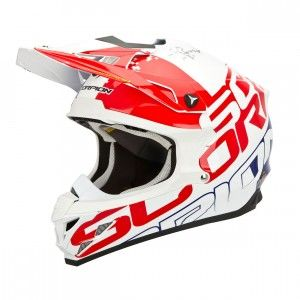 Scorpion Crosshelm VX-15 Evo Air Grid Pearl White/Red/Blue-XL