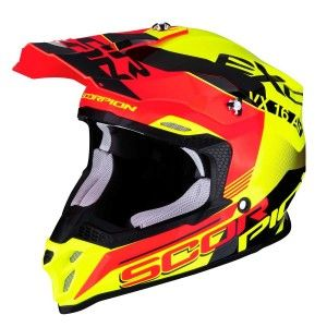 Scorpion Crosshelm VX-16 Arhus Neon Yellow/Neon Red