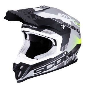 Scorpion Crosshelm VX-16 Arhus Matt Silver/Black/Neon Yellow