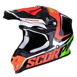 Scorpion Crosshelm VX-16 Ernee Black/Neon Red/Green