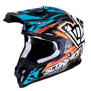 Scorpion Crosshelm VX-16 Rok Bagoros Orange/Blue