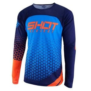 Shot Crossshirt Aerolite Delta Blue/Neon Orange