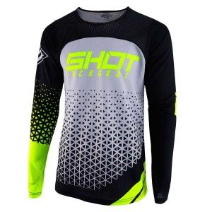 Shot Crossshirt Aerolite Delta Grey/Neon Yellow