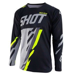 Shot Crossshirt Contact Score Black/Grey/Neon Yellow