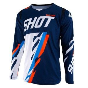 Shot Crossshirt Contact Score Blue/Neon Orange