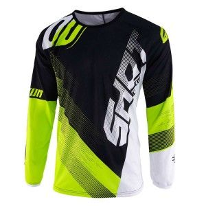 Shot Kinder Crossshirt Devo Ultimate Black/Neon Yellow
