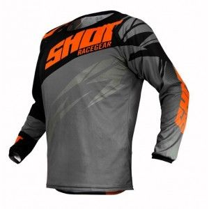 Shot Crossshirt Devo Ventury Dark Grey/Neon Orange
