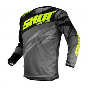 Shot Crossshirt Devo Ventury Dark Grey/Neon Yellow