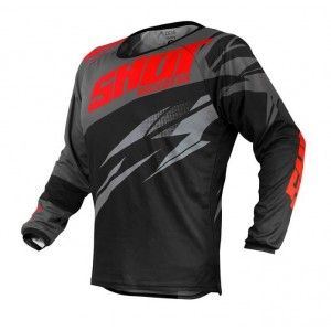 Shot Crossshirt Devo Ventury Dark Grey/Red