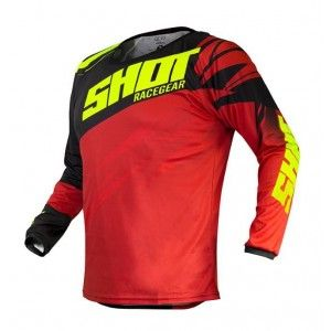 Shot Crossshirt Devo Ventury Red/Neon Yellow