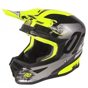 Shot Furious Crosshelm Shadow Neon Yellow Glossy