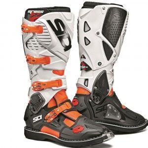 Sidi Crosslaarzen Crossfire 3 White/Fluor Orange