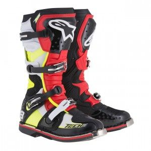 Alpinestars Crosslaarzen Tech 8 RS Black/Red/Yellow Fluo/White