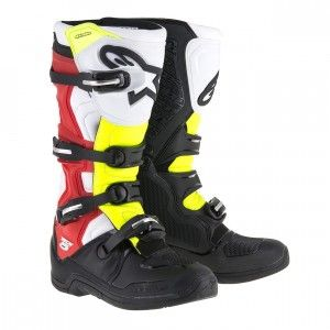 Alpinestars Crosslaarzen Tech 5 Black/White/Red/Yellow Fluo