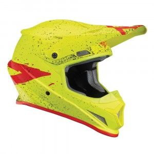 Thor Crosshelm Sector Hype Fluor Acid/Red