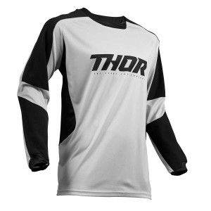 Thor Enduro Shirt Terrain Light Gray/Black