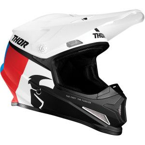 Thor Crosshelm Sector Racer White/Blue/Red