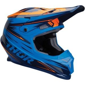 Thor Crosshelm Sector Warp Navy/Orange