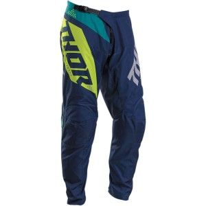 Thor Kinder Crossbroek Sector Blade Navy/Acid