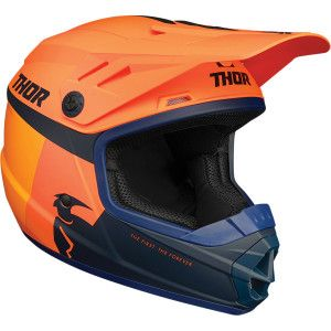Thor Kinder Crosshelm Sector Orange/Midnight