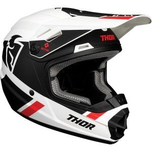 Thor Kinder Crosshelm Sector Split Black/White MIPS