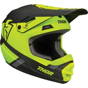 Thor Kinder Crosshelm Sector Split MIPS Acid/Black