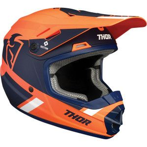 Thor Kinder Crosshelm Sector Split MIPS Orange/Black