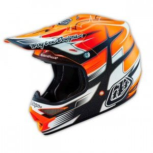 Troy Lee Designs Crosshelm Air Starbreak Matte Orange-S