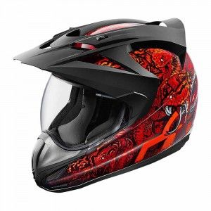 Icon Integraalhelm/Endurohelm Variant Cottonmouth Red-L
